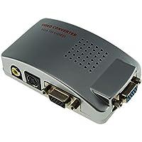 SATKIT Convertidor Señal VGA a RCA Video y S-Video