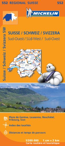 Carte Suisse Sud-Ouest Michelin par Collectif MICHELIN