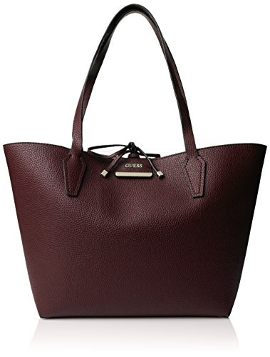Guess Bobbi Inside Out Tote, Sacs à Main Femmes, Taille Unique Multicolore (Bordeaux Multi)