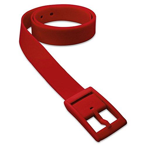 1 St. SoulCats ceinture à la mode en silicone dans de nombreuses couleurs néon unisexe jaune orange rose bleu, couleur: rouge