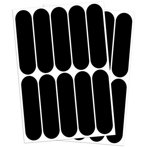 B REFLECTIVE, (paquete de 2) 10 pegatinas retro reflectantes Kit, Seguridad y alta visibilidad di noche, Adhesivo universal para Bicicleta/Cochecito/Casco/Moto/Motocicleta/Juguetes, 7 x 1,8 cm, Negro