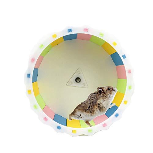 Oncpcare Hamster Übungsspielzeug Hamster Laufrad Laufrad Hamster leise Spinner Zubehör Adorable Hamster Käfig Befestigungsmöglichkeiten für kleine Rennmäuse, Chinchilla