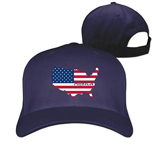 Rghkjlp 4. Juli Merica Flag Unisex Vintage Baseball Caps Washed einstellbare Papa Hüte Multicolor82 (4. Juli Baseball-hüte)