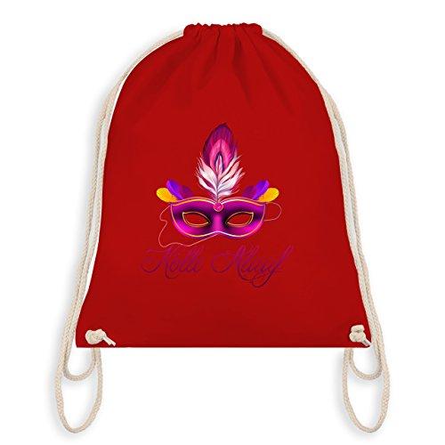 Anlässe Kind - Maske Kölle Alaaf - Unisize - Rot - WM110 - Angesagter Turnbeutel / Gym (Spaßvogel Masken)