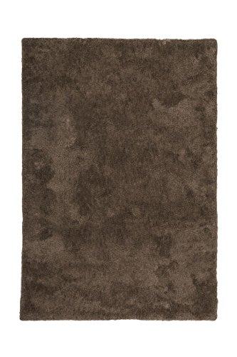 Teppich Wohnzimmer Carpet Hochflor Shaggy Design Cyprus - Nikosia Rug Unifarbe Muster Polyester 200x290 cm Braun/Teppiche günstig online kaufen