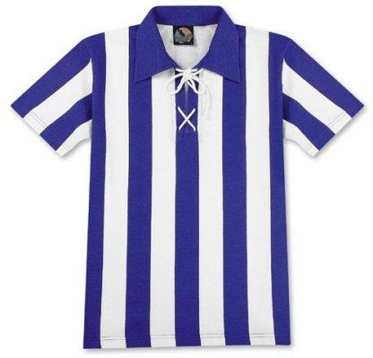 World of Football Traditionstrikot blau-weiß - XL