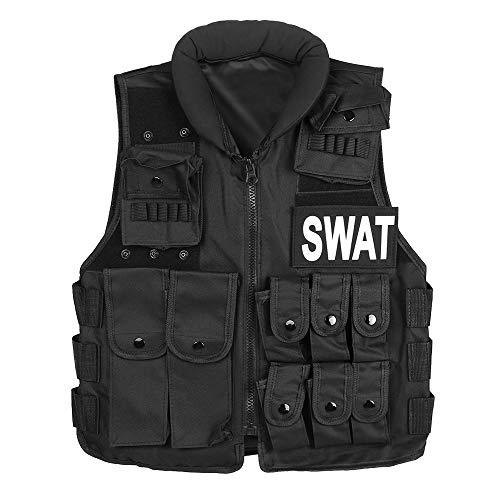 Lixada en Plein air Waistcaot Formation CS Champ Combat Waistcoat Chasse Modulaire Gilet De Formation De Protection Gilet De Sécurité