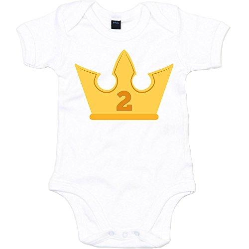 Shirt Happenz Kindergeburtstag 02 Premium Babybody | Jungs | Geburtstag | Krone | Mädchen | Junge | Kurzarmbody, Farbe:Weiß (White BZ10);Größe:12-18 Monate (Happy Birthday-krone 13)