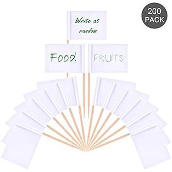 Leere Zahnstocher Flaggen Käse Marker Weiß Kennzeichnung für Party Kuchen Leben
