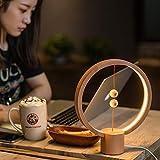 Rziioo Heng Balance Lampe Runde magnetische Mid-Air Switch LED-Lampe, USB-angetriebene Nachtlampe, modernes Design,B