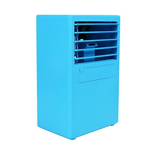 Mobiles Klimagerät Mini Luftkühler 24V Air Cooler Befeuchter Portable Ventilator Innen Luftbefeuchter Sprayer Verdunstungskühler (Blau)