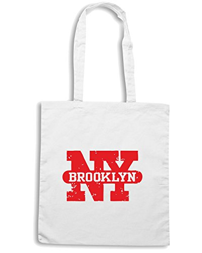 T-Shirtshock - Borsa Shopping TSTEM0015 brooklyn new york Bianco