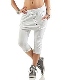 Damen 3//4 Capri Jeans Hose Shorts Damenjeans Caprijeans Bermuda Sommerhose N975