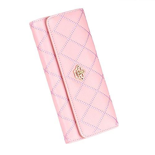 Geldbörse, Cozyswan Portemonnaie PU-Leder Geldbeutel Purse Clutch Abend Handtasche Krone (rosa) (Abend-handtasche Rosa)