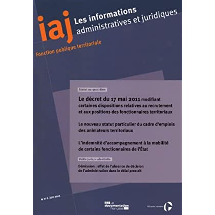 Informations administratives et juridiques n°06-2011
