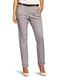 edc by ESPRIT Damen Hose 993CC1B906 Chino Tapered Fit (Karotte) Normaler Bund