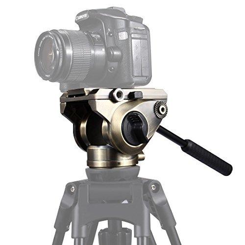 puluz Professional Universal Heavy Duty Dreibeinstativ Action Fluid Drag Kopf mit 75mm Stativ Ball Flach Schüssel Adapter + Gleitplatte für DSLR Spiegelreflexkameras von Video Kameras Camcorder bis zu 22LB/102kg (Film Making-stativ)