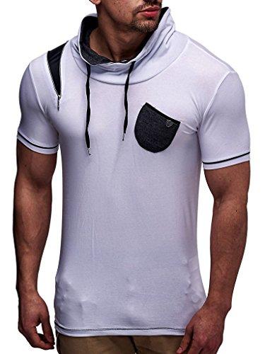 LEIF NELSON Herren T-Shirt LN145; Größe M, Weiss |
