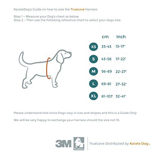 True Love Front Range Hundegeschirr, verhindert Zerren, Modell von 2016, Reflektierende 3M-Nähte für bessere Sichtbarkeit in der Nacht - 5