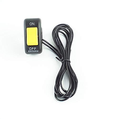 Parti del Motore Interruttore Luce Spot/fendinebbia Universale per BMW Enduro 1200 R GS Accessori Moto aggiuntivi (Colore : Giallo)