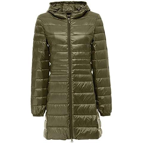Topgraph Para Mujer Chaqueta Larga Portátil de con capucha Extremadamente Ligera Woman Down Jacket