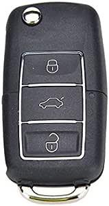 Vwks37a Inion Ersatz Schlüsselgehäuse Schwarz Mit 3 Tasten Autoschlüssel Klappschlüssel Schlüssel Mit Rohlingtyp