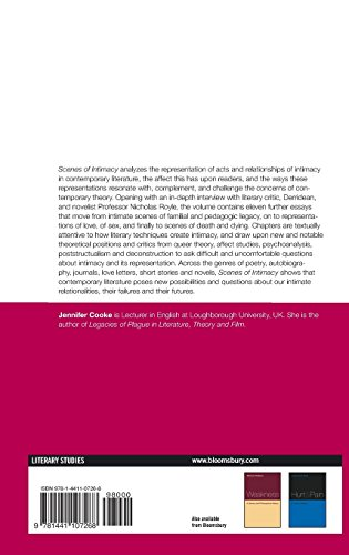 Scenes of Intimacy: Reading, Writing and Theorizing Contemporary Literature. Edited by Jennifer Cooke