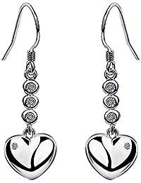 Meyiert Fashion Charm Elegant Black Paint Star 925 Silver Zirconia Drop Hook Earring For Women Girls
