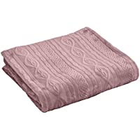 Enjoy Home p023grc130150 Plaid Flannel Frappé poliéster rosa viejo, ...