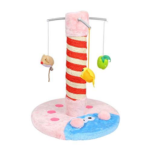LEMAIJIAJU Kratzbaum, Katzenkratzbaum mit Lieblingsspielzeug der Katze, die Neugier von der Katze Befriedigt, Klein