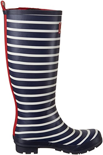 Tom Joule Damen Welly Print Gummistiefel Blau (French Navy Stripe)