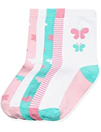 RED WAGON Chaussettes Fantaisie Papillons Fille (lot de 5)