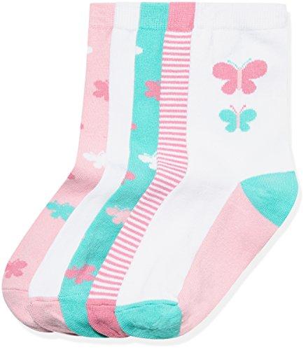 RED WAGON Girl's Design Butterfly Calf Socks pack of 5