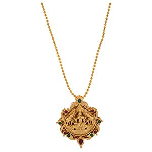 1 Gram Gold Plated Laxmi Design Pendant Without Chain