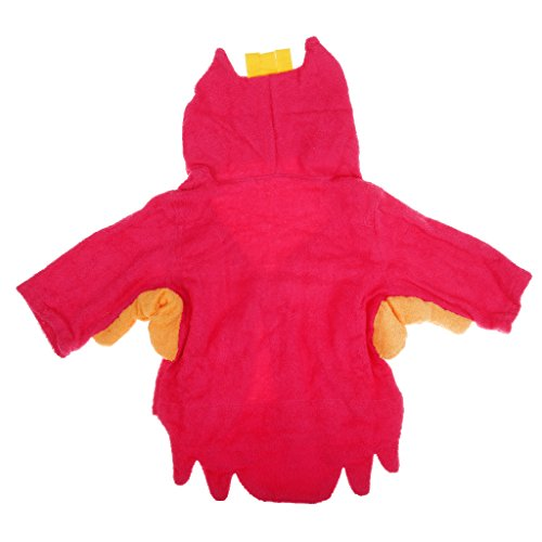 Magideal Animal Baby Robe Hooded Adorable Baby Bathrobe Soft Cotton Red owl