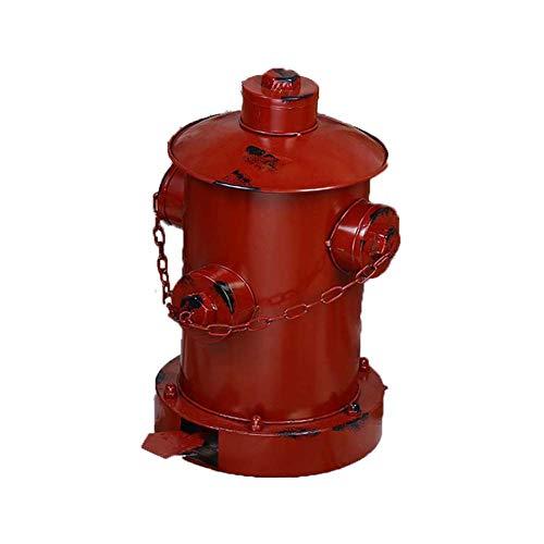 miedeeisen Alten Hydrant Pedal Mülleimer Hause Dekorative Ornamente(Red) ()