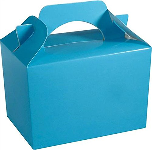 Boot Bag Box (10 x BABY BLUE Kid Childrens Plain Activity Food Loot Favour Birthday Party Bag Gift Box Wedding Toy Christmas by Concept4u)