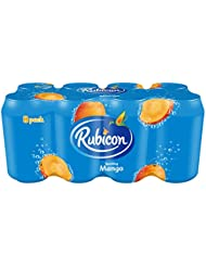 Rubicon Sparkling Mango Juice Drink Cans, 8 x 330 ml