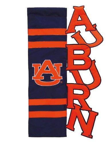 NCAA Auburn Tigers Navy Blue-Orange Cut-Out Applique Garden Flag