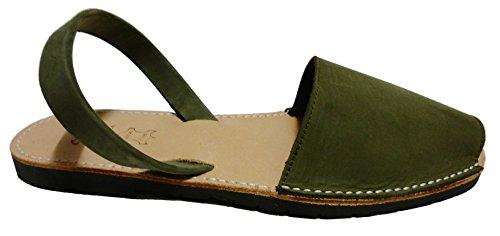 Nobuck De Verde Autênticos Sandalias Menorquinas Minorca Para Sandálias Avarcas Kaki Homens Abarcas Hombre T5q57gv