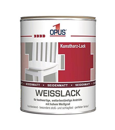 Kunstharz-Weißlack  <strong>Glanzgrad</strong>   Hochglänzend
