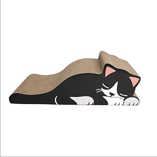 Katzenkratzbrett Cat Grinding Toys Pet Products Katzenstreu Exquisite Katzenmöbel Cat Sofa Catnip (Farbe : Schwarz) (Schwarz Decke Gewölbte)