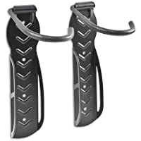 Relaxdays Set Of 2 Bicycle Holders, Wall-Mount, For Bike Wall Storage, Tyre Holders, Black