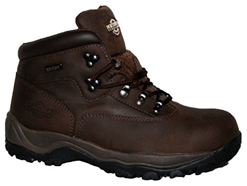 MENS INUVIK FULLY WATERPROOF LACE UP WALKING/HIKING TREKKING BOOT (UK11, Brown Waxy)