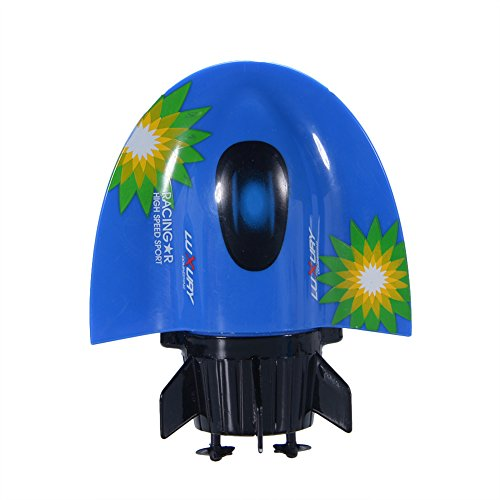 elegantstunning Elegantes 5-Kanal-Funk-Fernbedienung, U-Boot, Rennboot, Spielzeug, wasserdicht, RC, Boot, Modell Elektro-Spielzeug, Geschenk für Kinder blau