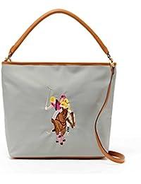 US Polo ASSN Designer Handbags: Women's Chester Nylon Hobo Bag (Grey) - (Multiple Color Available) By U.S. Polo...