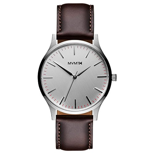 Uhr Mvmt 40 Series – 40 mm Silver/Brown Leather