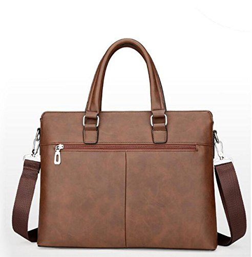 Männer Handtasche 14-Zoll-Computer Tasche Business Aktenkoffer Umhängetasche Brown1