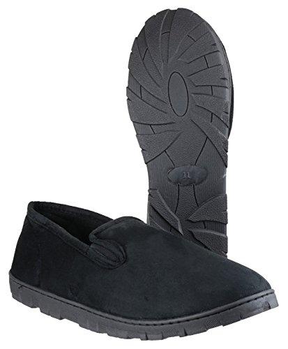 Nero Tassello Noir Elastico Vince Mens Mirak Tessile Slittamento Pantofola HnBp8Cxqw