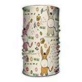 Jiuyiqit3 Multi Function Magic Scarf Constructed with High Performance Rotating Illusion Tube Mask Seamless Pattern Babies Hand Draw burros Lovely